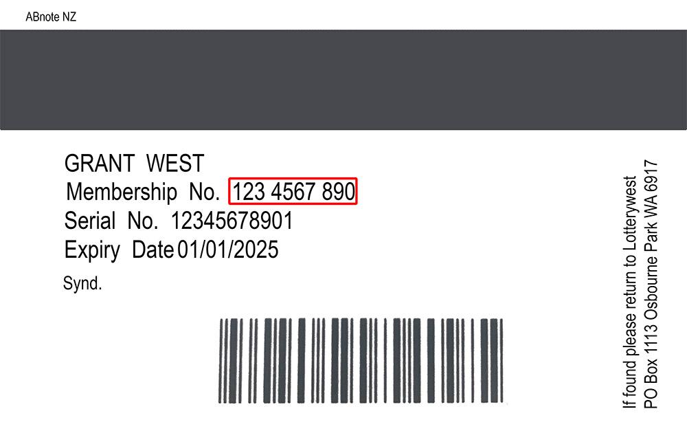 10-digit membership number