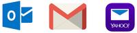 Microsoft, Gmail, Yahoo