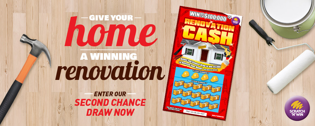 Renovation Cash second chance draw