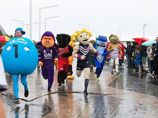 Mascot Finish Line