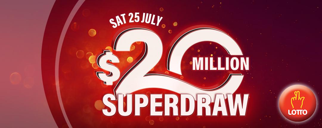 July Superdraw 2020 app banner