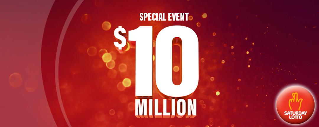 Saturday Lotto $10M event - Jan 2021