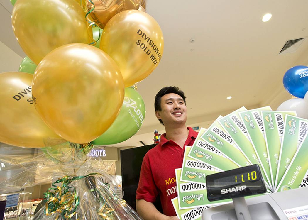 Owner of The Lucky Lottery Centre in Booragoon, Soon-Chiang Yong, personally chose the winning numbers of a $30 million winning syndicate which 10 lucky members shared in.
