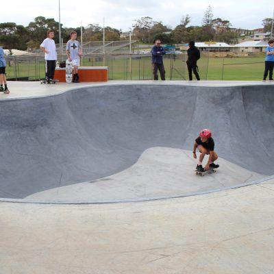 Skaters kick off at Falcon Skate Park